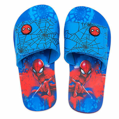 Disney Store Spider Man Avengers Boys Flip Flops Sandals 7/8 9/10 11/12 13/1