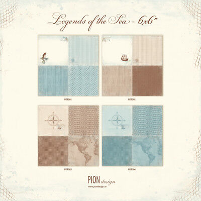 Pion Design Complete collection - Legends of the Sea - 6x6""