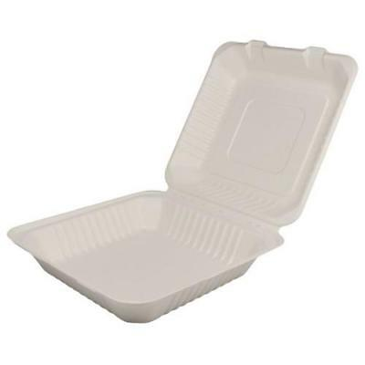 Karat Earth - KE-BHC99-1C - 9 in x 9 in Bagasse Clamshells