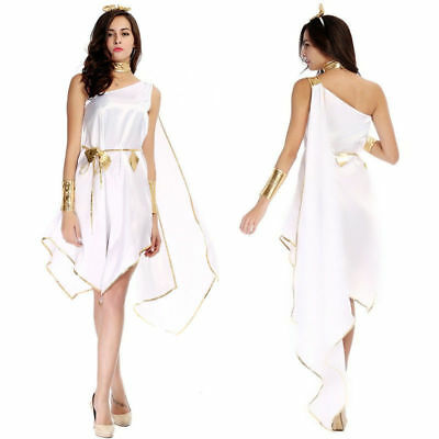 Adult Sexy Roman Toga Greek Athena Goddess Fancy Dress Costume Outfit Cosplay