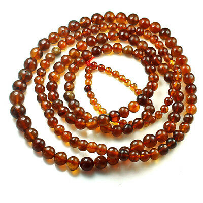21.4g 100% Natural Mexican Golden Amber Bead Bracelet Necklace CSFb663