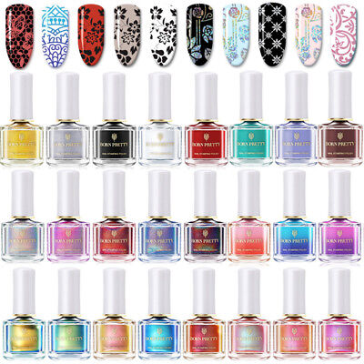 6ml BORN PRETTY Nail Stamping Polish Holographic Thermal Plate Printing Varnish