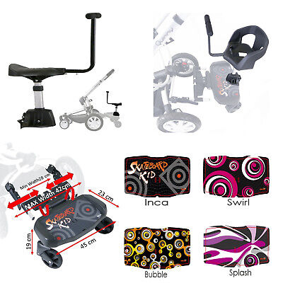Pram Buggy Board With Saddle Or Harnessed Seat To Fit Silver Cross Pop Stroller