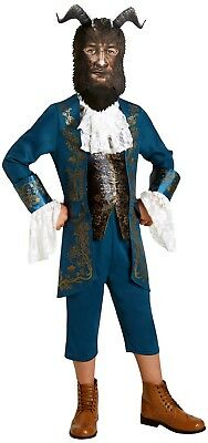 Boys Beast Costume Live Action Beauty /& The Beast Fancy Dress Book Day Outfit BN