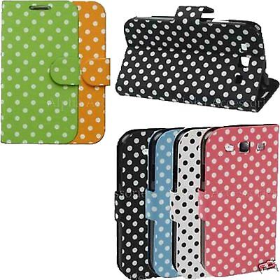 Polka Dots Wallet Stand Pu Leather Case Cover Pouch Samsung Galaxy S3 SIII i9300