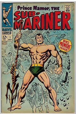 Sub-Mariner #1 1968 Buscema Art Marvel Silver Age First Issue Nice!