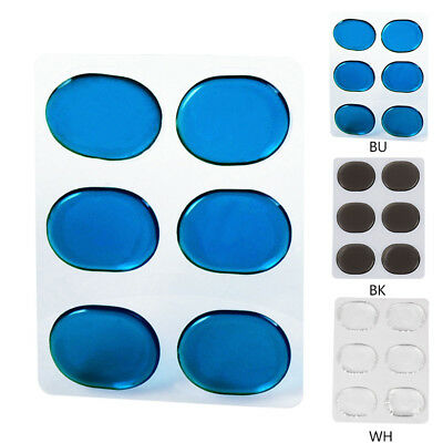 6 Pcs Silicone Drum Snare Sliencer Mute Accessories Transparent/Black/Blue