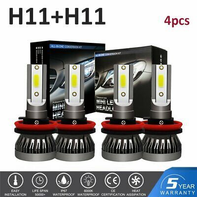 9005+9006 Combo LED Headlight Bulb Kit for Chevy Silverado1500 2500 HD 2001-2006