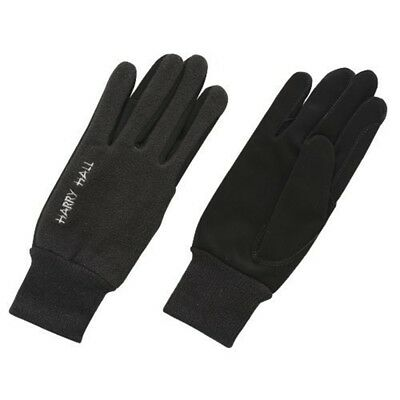 Harry Hall Fleece/domy Suede Gloves - Black, X-large - Fleecedomy Riding Black