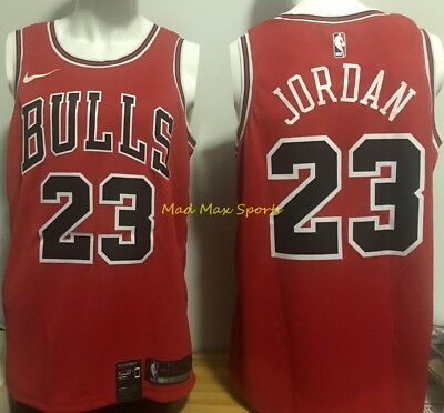 uk availability f13a3 4af19 MICHAEL JORDAN CHICAGO BULLS Nike Red THROWBACK Icon Edition SWINGMAN Jersey