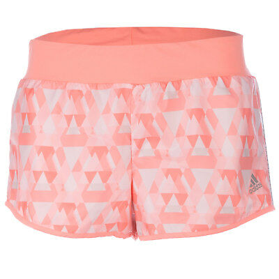 Womens adidas performance Womens Run Reversible Running Shorts in Coral - 18