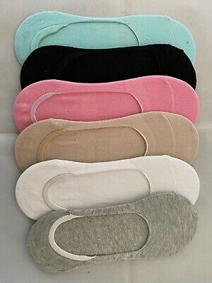 Colourful Moisture Absorbing Antibacterial Women's Bamboo Shoe Liner Socks UK
