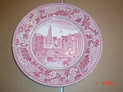 Johnson Brothers HISTORIC AMERICA Pink Red And White Large Side Plate