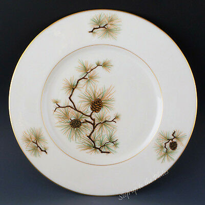 "Lenox China PINE (Cone) W331 SALAD Plate /s 8 1/8"" Use for Holidays & Beyond"