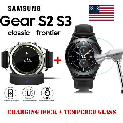 Samsung Gear S2 S3 Classic Frontier Qi Wireless Charging Dock Cradle Charger Lot
