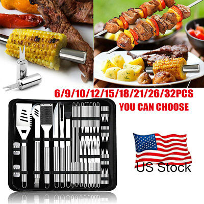 36 in 1 Stainless Steel BBQ Grill Tools Set Barbecue Utensils Kit CAMPING SET US