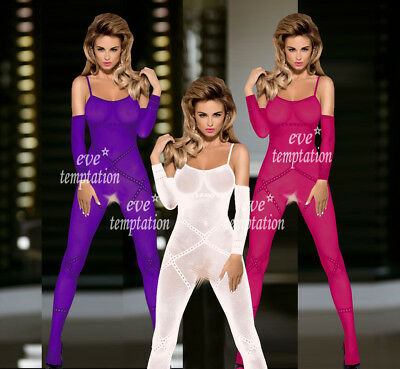 plus size lingerie sexy hot erotic Catsuit Nightwear sleepwear Underwear+glove