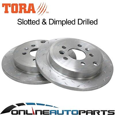 2 Rear Slotted + Drilled Disc Brake Rotors Ford Falcon BA BF 2002-12 XT XR6 XR8