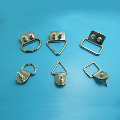 D Ring/Triangle/Square Shape Frame With Screws Picture Hanging Mirror Hanger