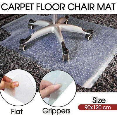 Carpet Floor Office Computer Work Chair Mat Vinyl Protector 114x135/90x120cm