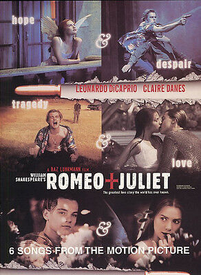 Romeo And Juliet Soundtrack Songbook Piano Vocal Guitar