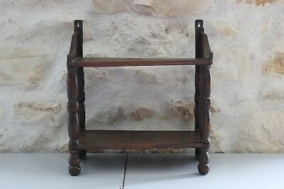 Antique small shelf wooden raw - Wall
