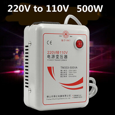 AC 220v To 110v 50/60Hz 500w Step Down Voltage Converter Transformer Converts
