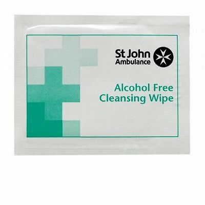 St John Ambulance Sterile Saline Cleansing Wipes F11510 - Pack of 100