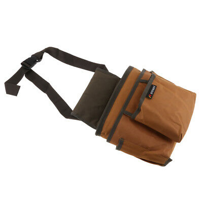 Multi-functional Pockets Waist Bag Tool Pouch Technician Tool Holder Brown
