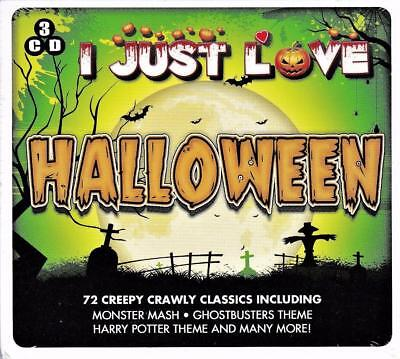 I Just Love Halloween -72 Creepy Hits Monster - Various Artists (New Sealed 3Cd)