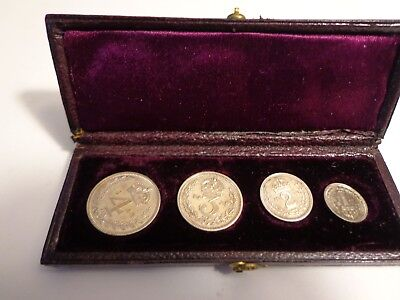 Kgvi 1943 Sterling Silver Great Britain Maundy Money Set 4 Coins Original Case