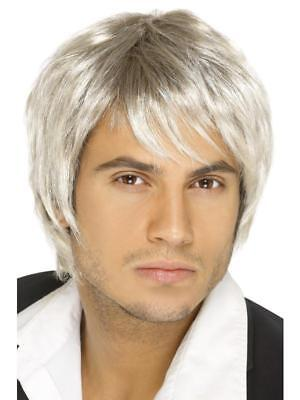 Blonde Boy Band Wig Mens Short Style 80's Party Fancy Dress Wig Accessory 42070