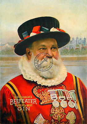VINTAGE POSTER BEEFEATER GIN ADVERTISING Retro ART Print OLD DRINK ADVERT A3 A4