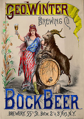 VINTAGE POSTER BOCK BEER RETRO Beer Commercial ADVERT ART Print A3 A4 COLOURED