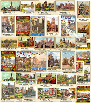 VINTAGE RAILWAY POSTERS Train Travel Tourism Advert Wall Art Print A2 A3 A4