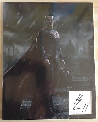 Henry Cavill BATMAN Vs SUPERMAN Signed 14x11 Display AFTAL