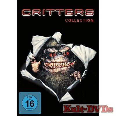 Critters 1+2+3+4 Collection (4-DVD-Box) Dee Wallace-Stone *Neu+OVP*