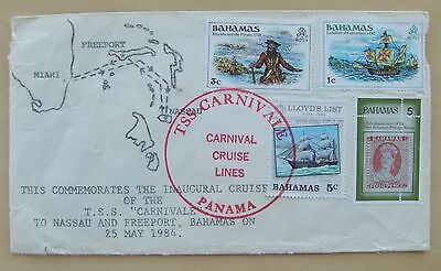 Bahamas 1984 cover Commemorating TSS Carnivale inaugural cruise