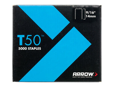 Arrow T50 Staples 14mm (9/16in) Pack 5000 (4 x 1250) ARRT50916
