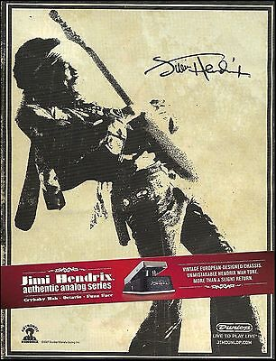 Jimi Hendrix Signature Series Dunlop Crybaby Wah Guitar Effects Pedal 8 x 11 ad