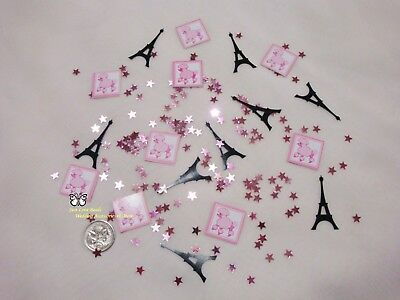 Wedding Table Scatters Foil Confettii Pink Poodle in Paris Mix BUY 1 GET 1 FREE