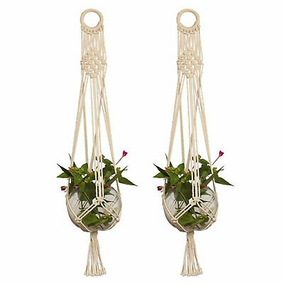 Pot Holder Macrame Plant Hanger Planter Hanging Basket Jute Rope Braided Craft