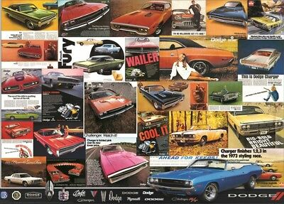 Jigsaw puzzle Car Vintage Dodge Ad Posters 1000 piece NEW Made in the USA