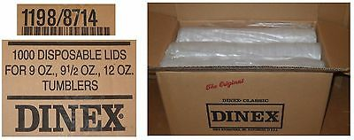 1000 Dinex DX11988714 Translucent DISPOSABLE LIDS for 8, 9.5, and 12 oz Tumblers