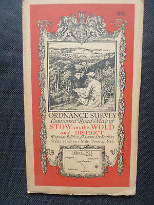 1932 - Stow-on-the-Wold & District - Ordnance Survey Road Map - Cloth Sections