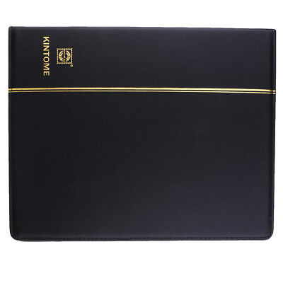 4 Holes Paper Money Collection Album Stamps Book w/ Soft Leather Notes Black