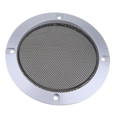 "4"" Speaker Decorative Circle Grill Cover Guard Protector Mesh Silver"