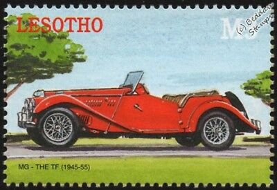 1945-1955 MG / M.G. TF (T-Type Midget) Automobile Car Stamp (2000 Lesotho)