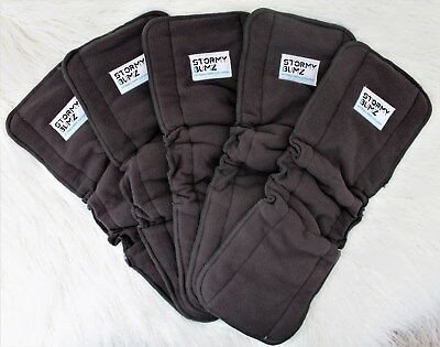 5X 5 Layer Inserts/night booster Bamboo Charcoal Liners  Baby Modern Cloth Nappy