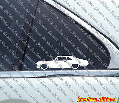 2X Lowered car stickers - for Chevrolet Nova (1968-1972) |  chevy muscle car